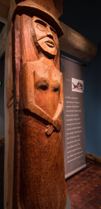 House Post of Woman by Gene Jones at Suquamish Museum