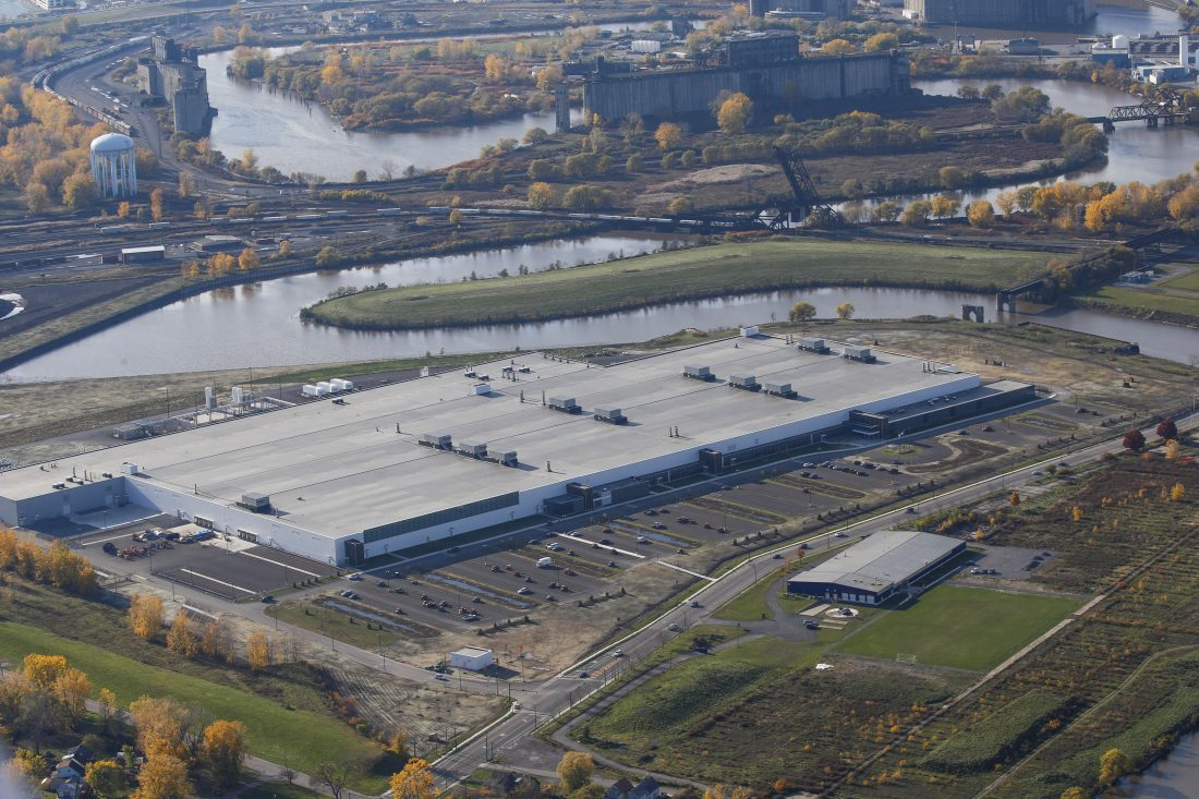 Aerial view of Gigafactory 2 in Buffalo New York.